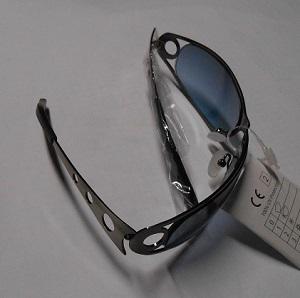 blauwe glazen sunglasses